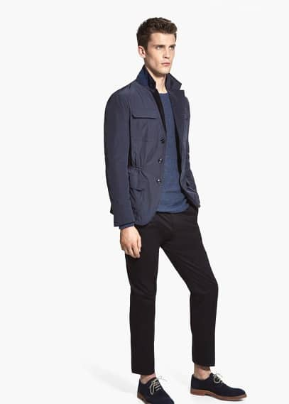 Water-repellent nylon-blend field jacket | MANGO MAN