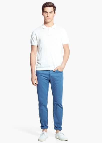 Bawełniane spodnie 5 kieszenie | MANGO MAN