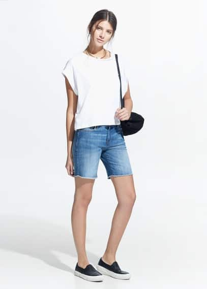 Medium denim bermuda shorts | MANGO