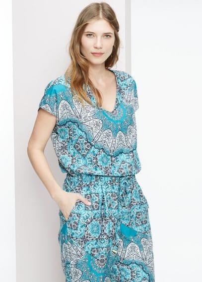 Scarf print jumpsuit | VIOLETA BY MANGO