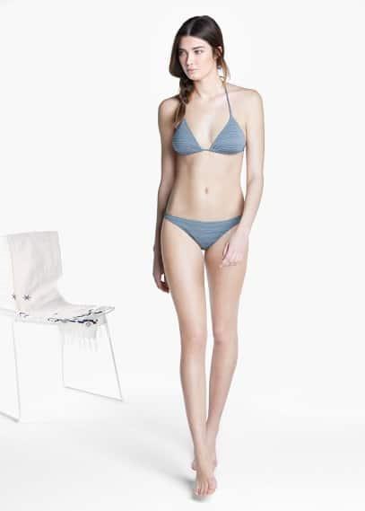 Metallic bikini bottom | MANGO