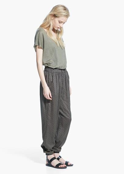 Pantalón baggy estampado | MANGO