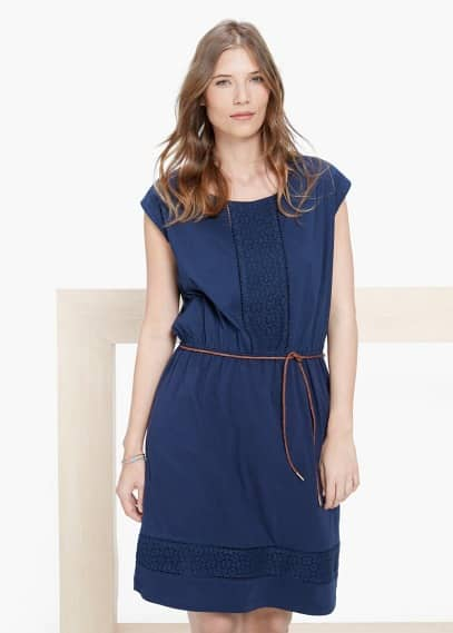 Openwork trim dress | VIOLETA BY MANGO