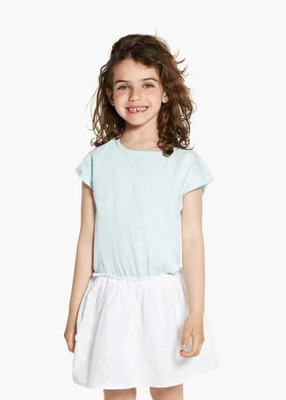 Contrast dress | MANGO KIDS