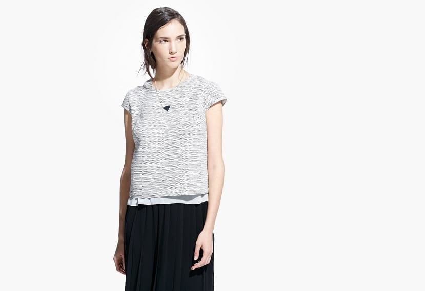 Jacquard cotton top