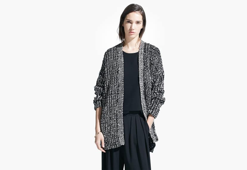 Monochrome cardigan