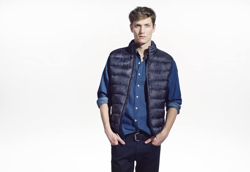 Camo water-repellent quilted gilet
