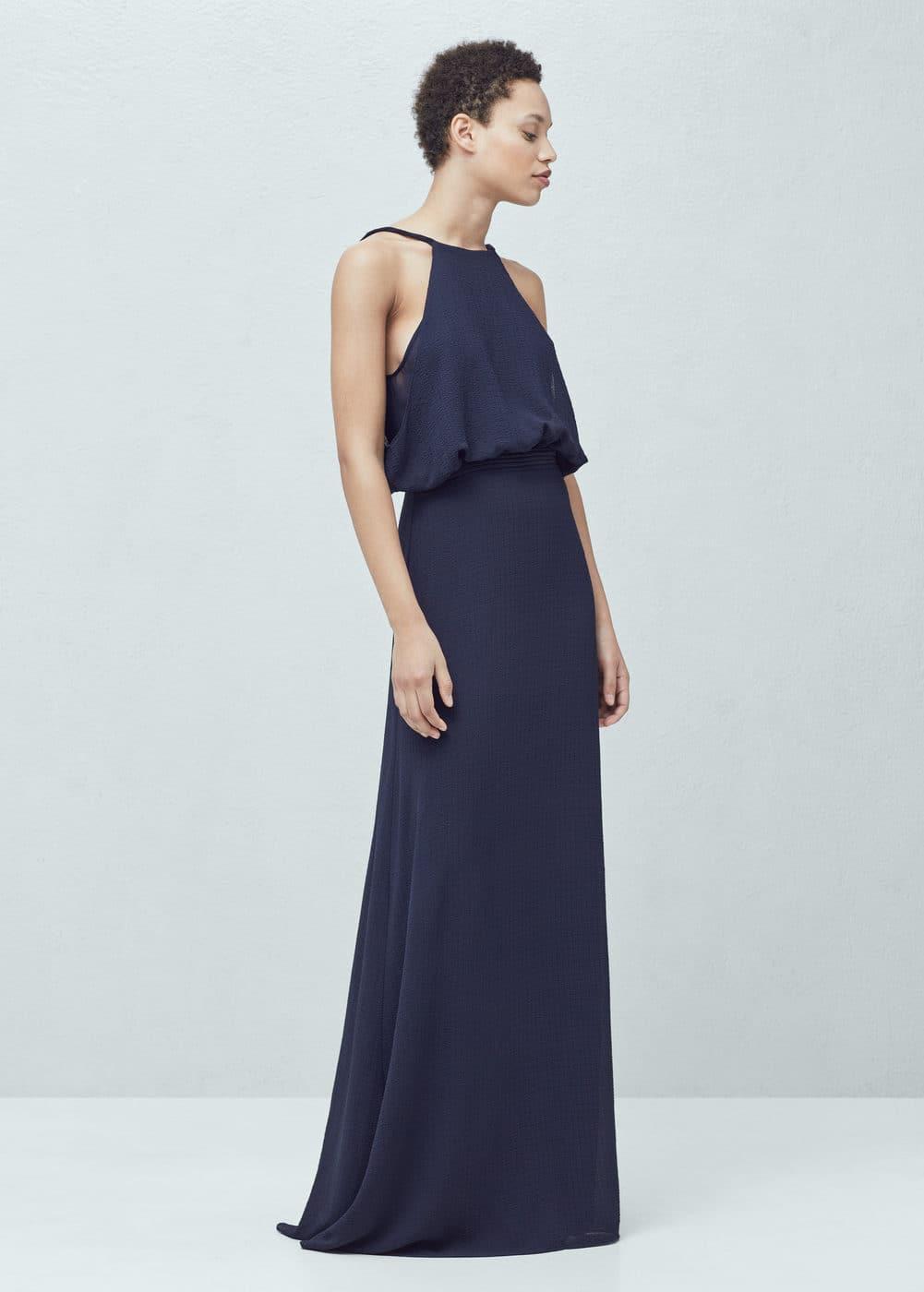 Halter neck gown   MANGO