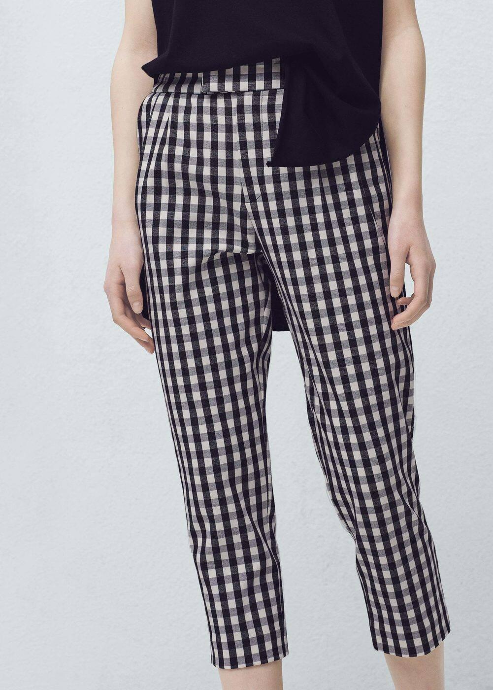 Check trousers | MANGO
