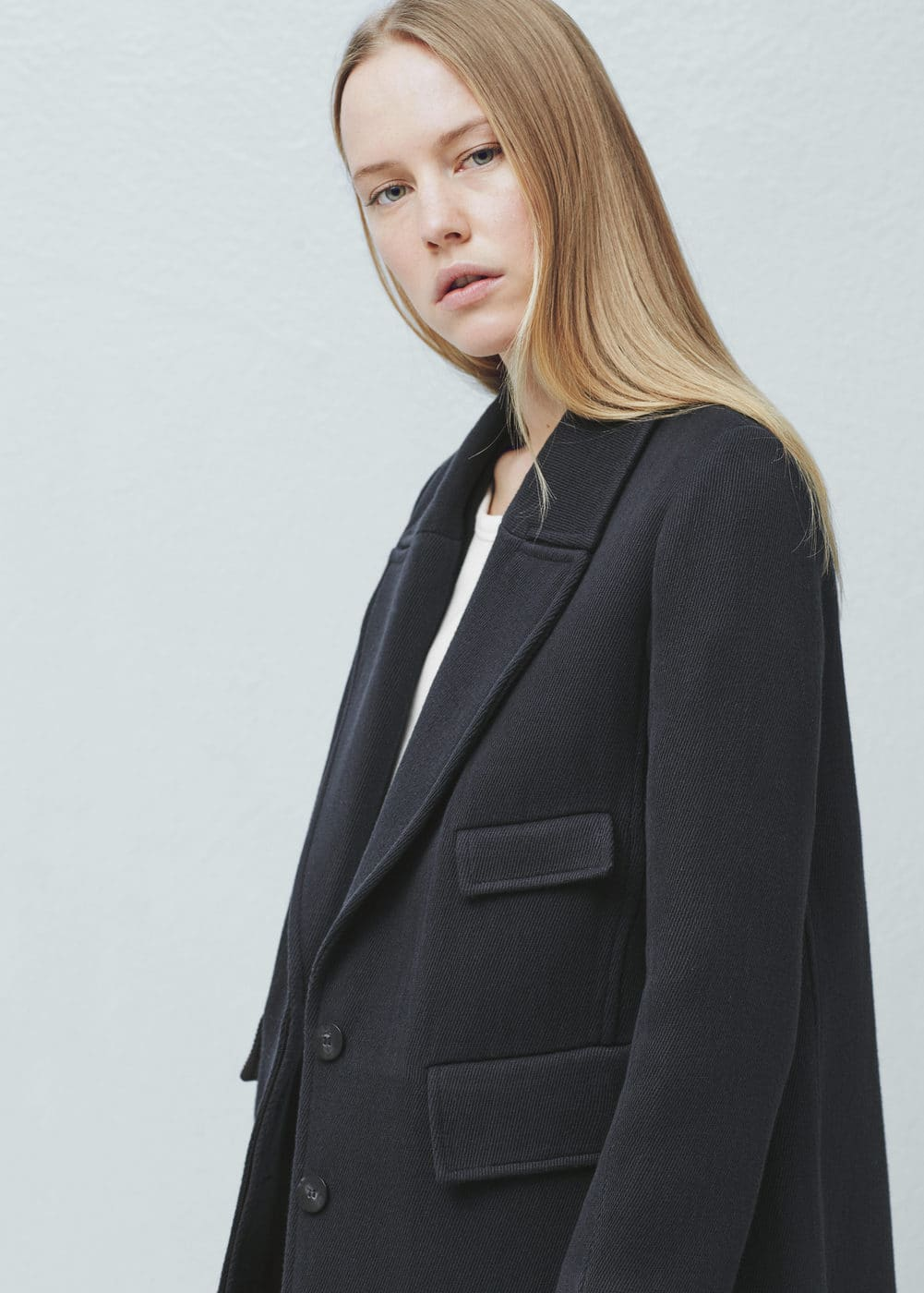 Lapels cotton coat | MANGO