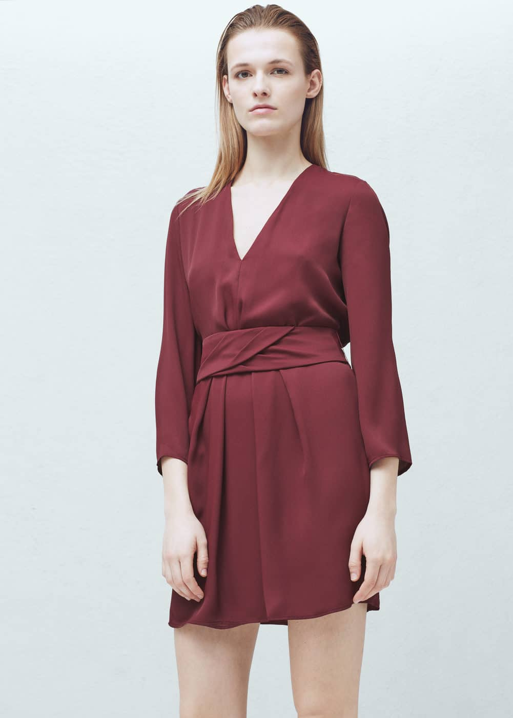 Sukienka odpinany pasek | MANGO