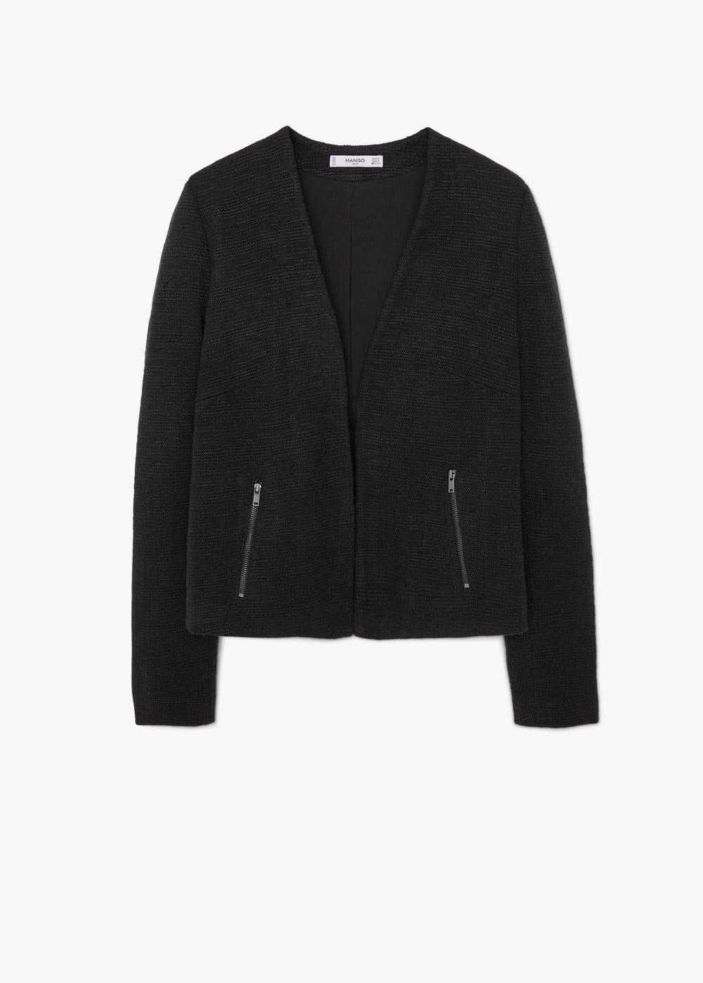Zip textured jacket | MANGO