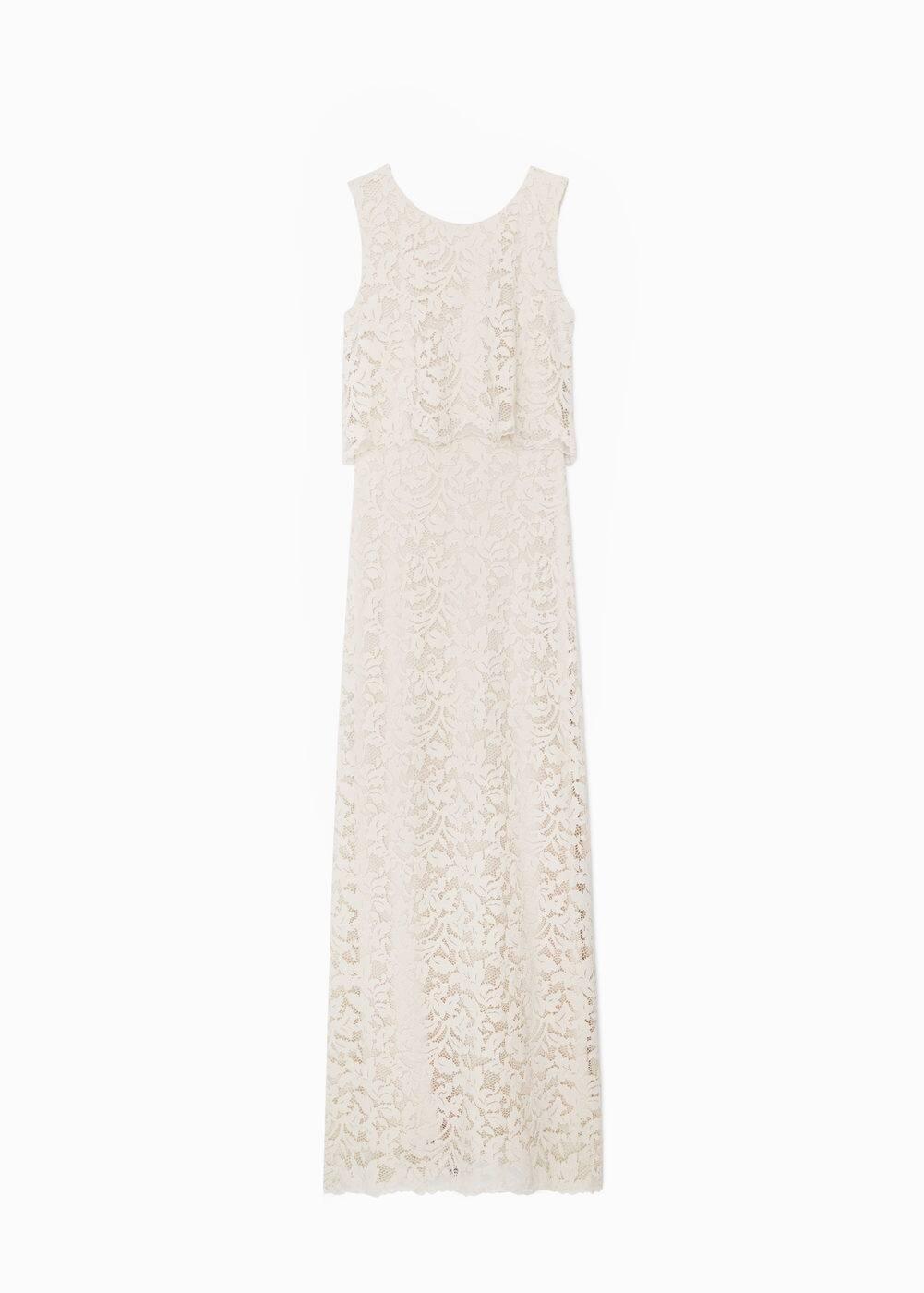 Güpür uzun elbise | MANGO