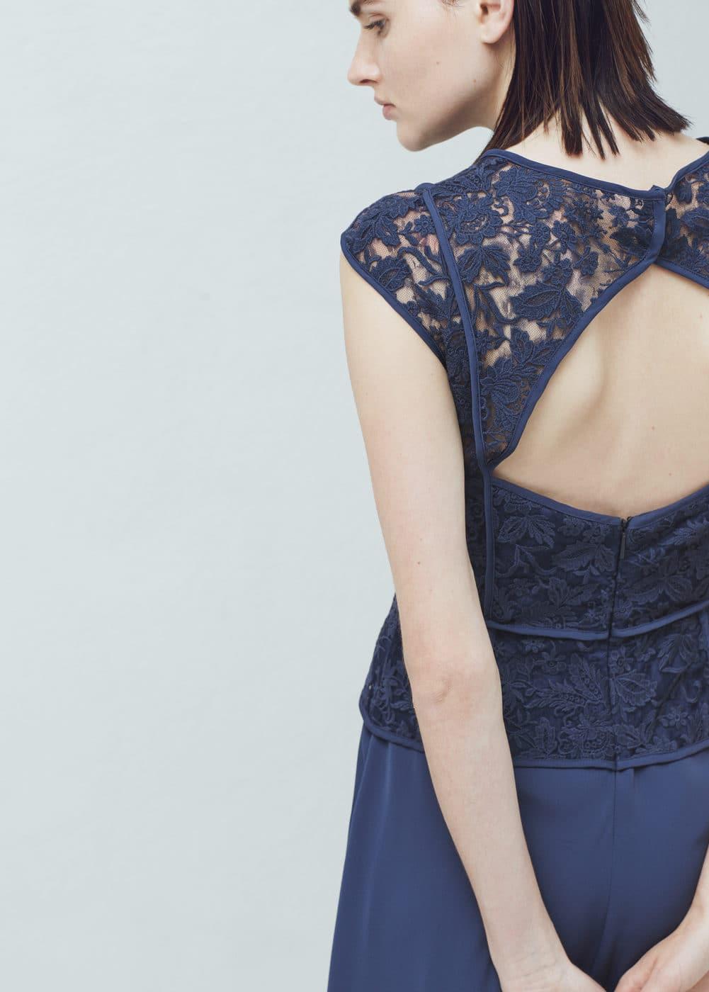 凸纹花边礼服
