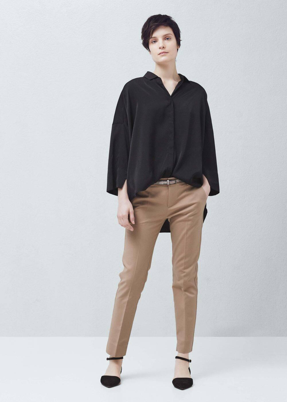 Pantalón algodón cinturón | MNG