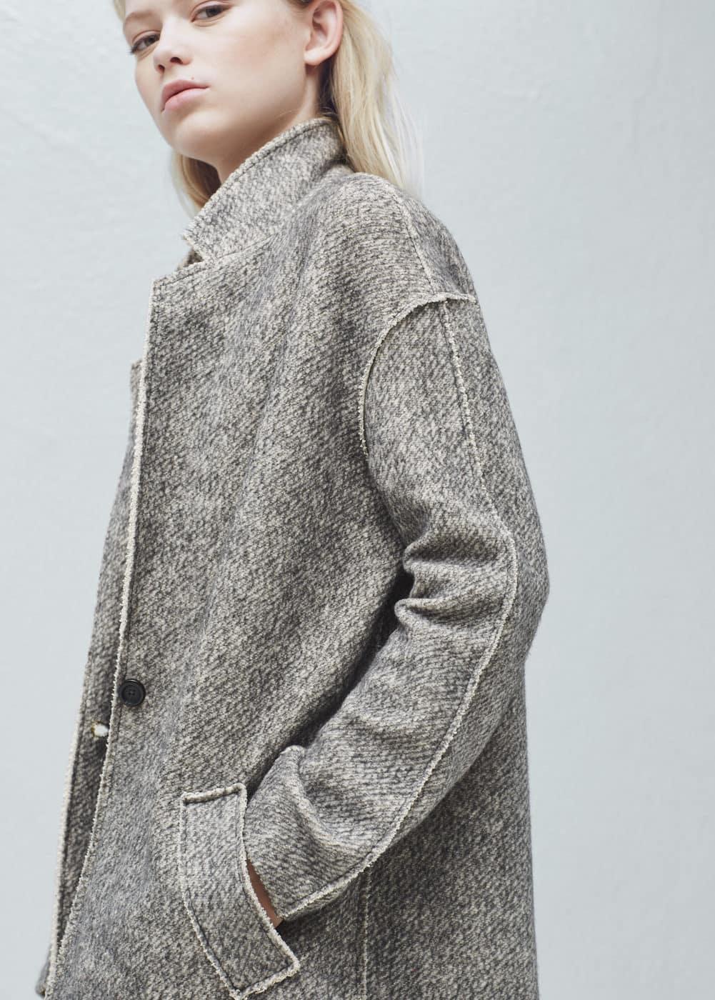 Manteau jaspé coton | MANGO