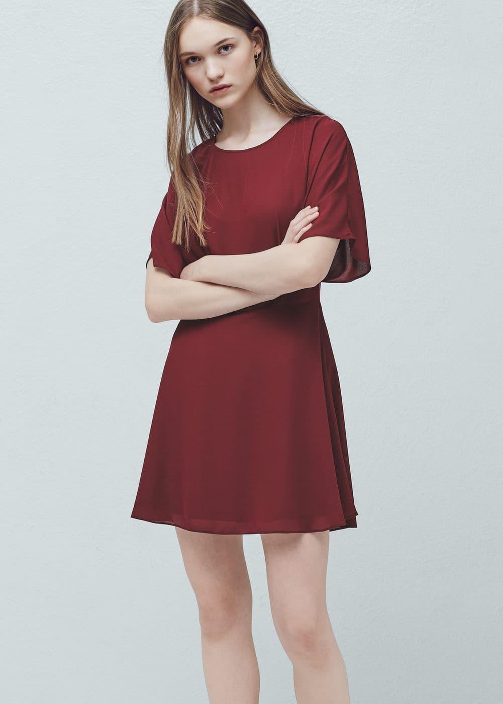 Sukienka rozkloszowany dół | MANGO