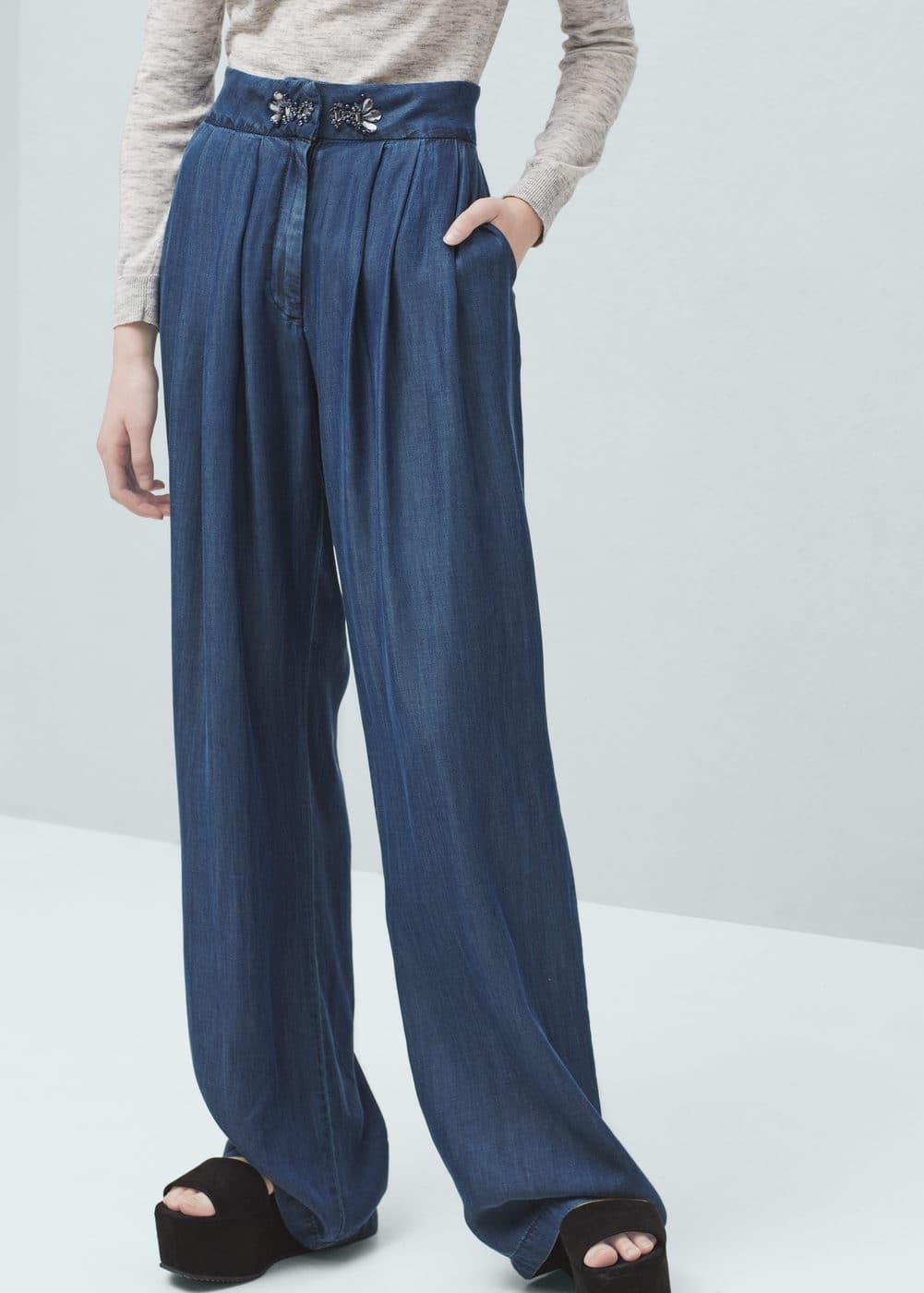 Soft denim trousers   MANGO