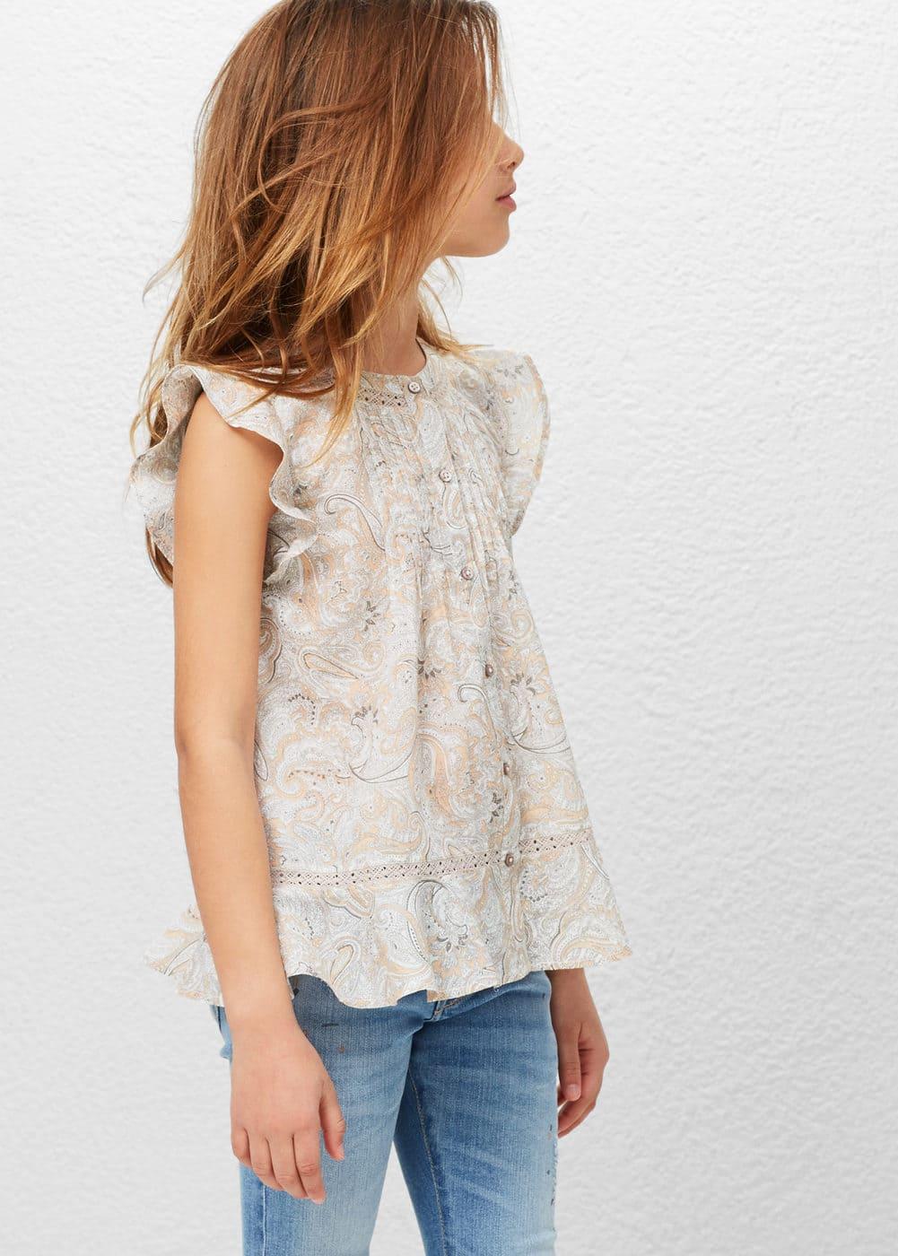 Printed boho blouse | MANGO
