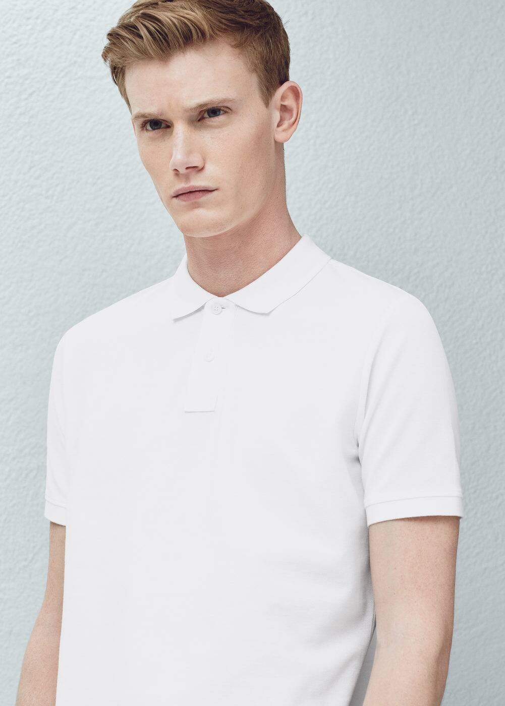 Slim-fit cotton-piqué polo shirt   MANGO