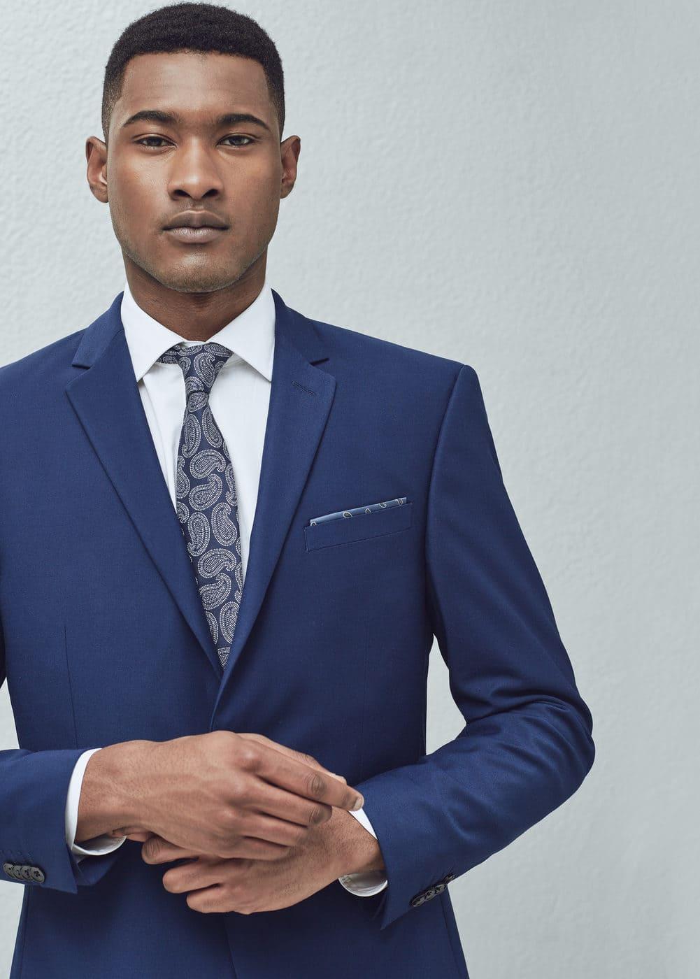 现代修身西装外套 | MANGO MAN