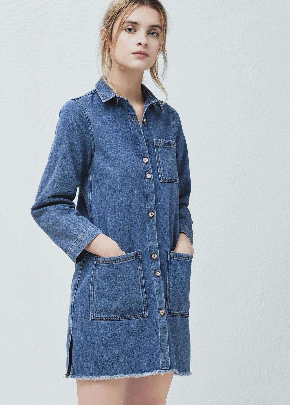 Pocket denim dress | MANGO