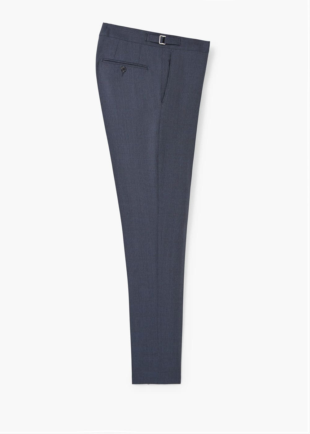 Prince of wales wool-blend suit trouser | MANGO