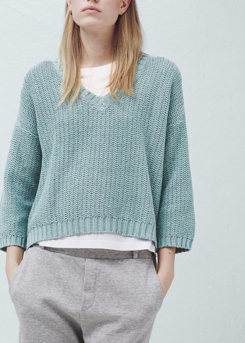斑纹棉纺上衣 | MANGO