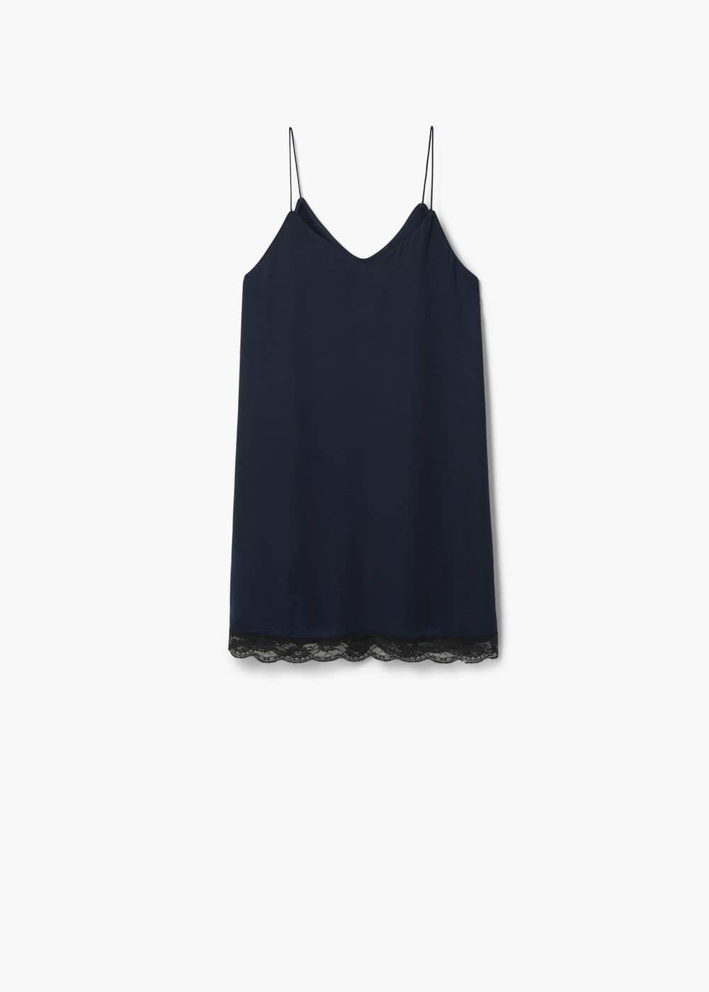 Lace appliqué dress   MANGO