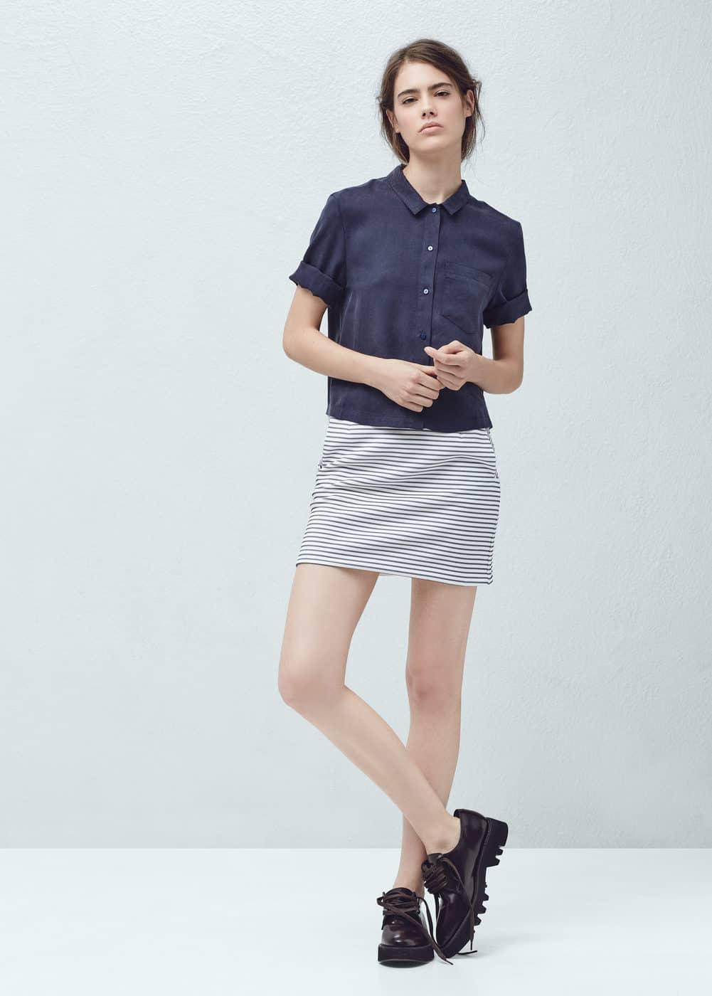 ストライプスカート   MANGO