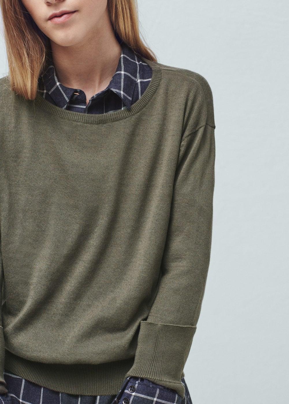Fine-knit cotton sweater | MANGO