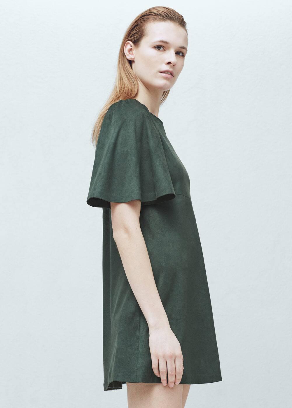 Sukienka z rozszerzanymi rękawami | MANGO