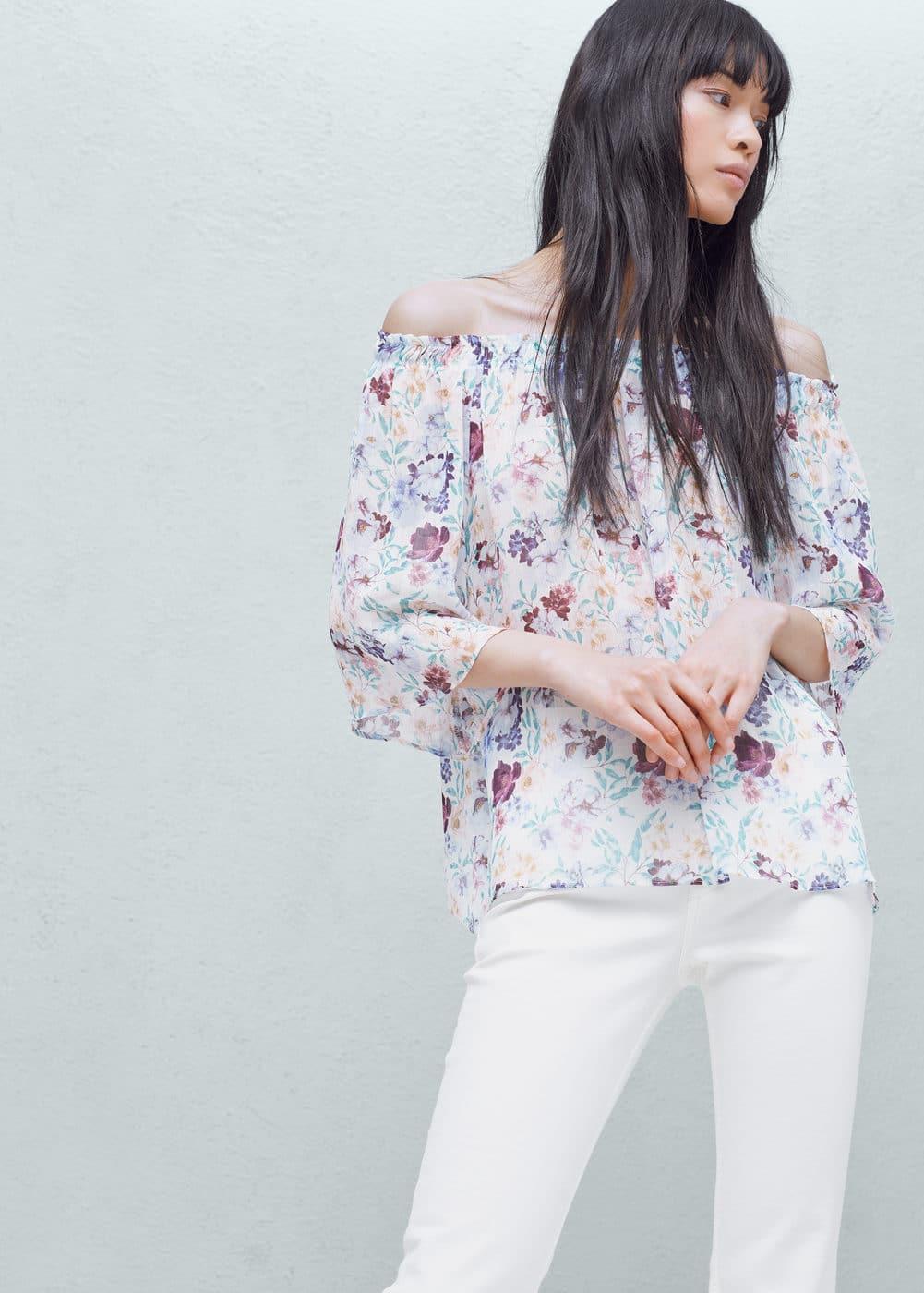 Blusa estampado floral | MANGO