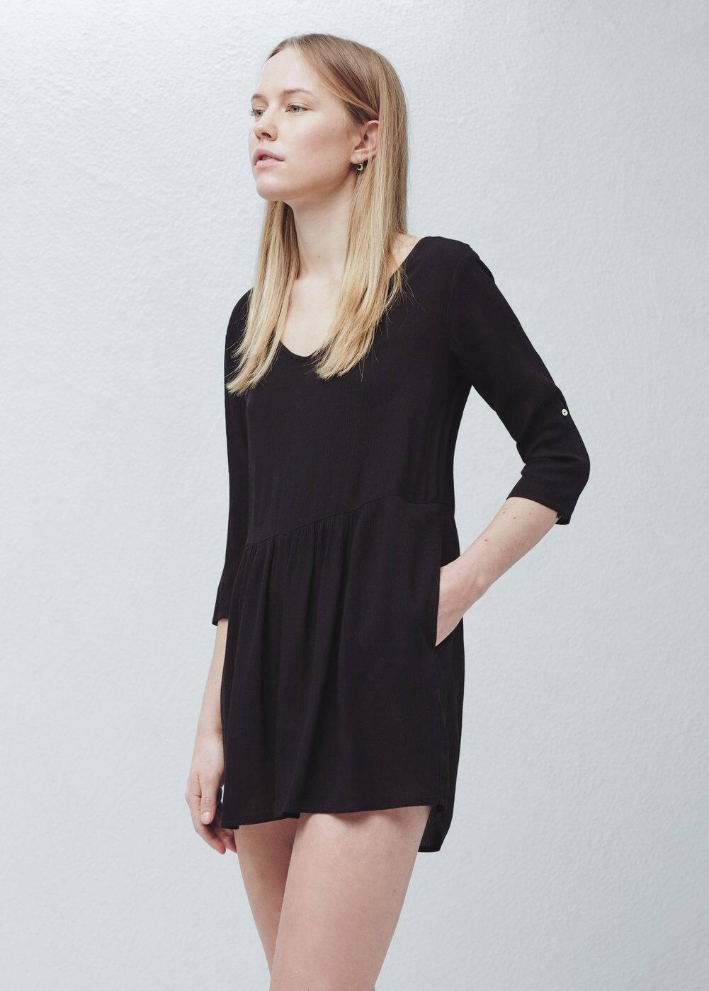 Short flowy jumpsuit - Women | MANGO USA