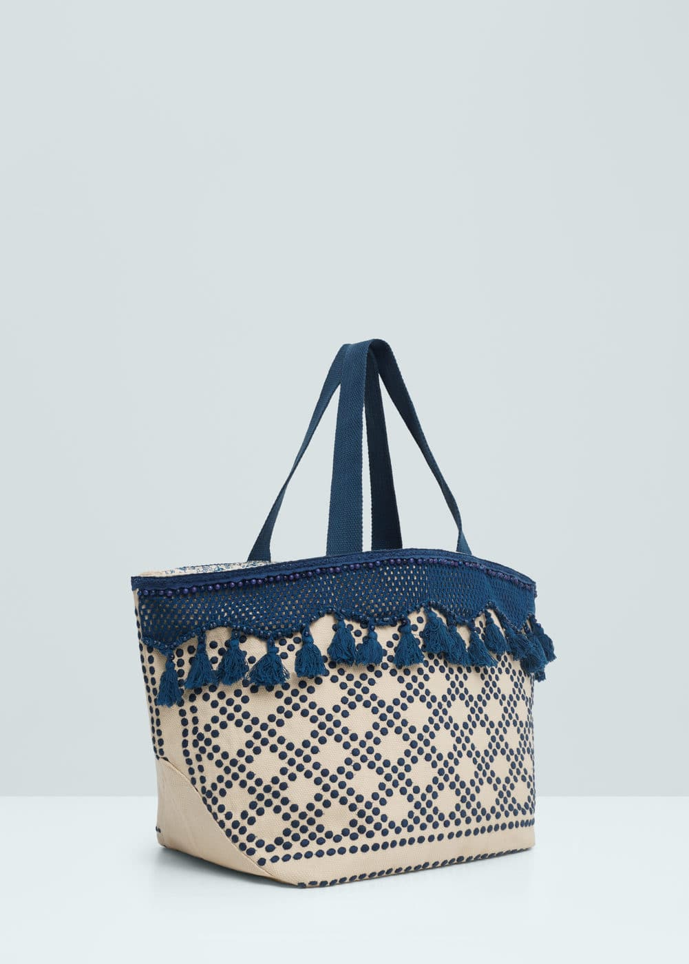 Embroidered shopper bag | MANGO