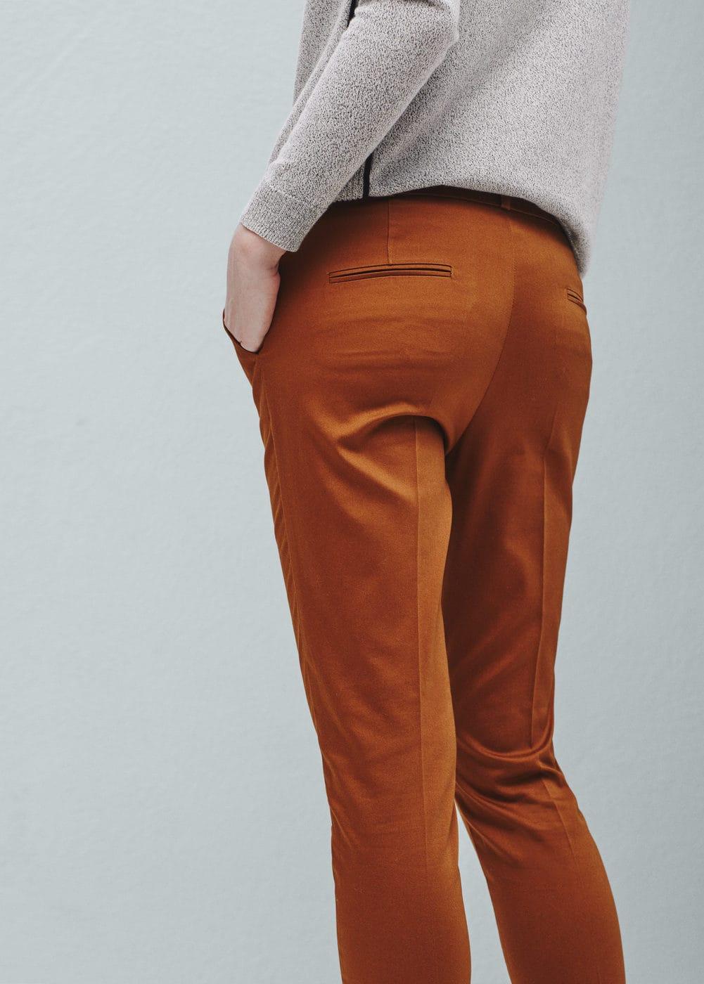 Pantalon droit coton | MANGO
