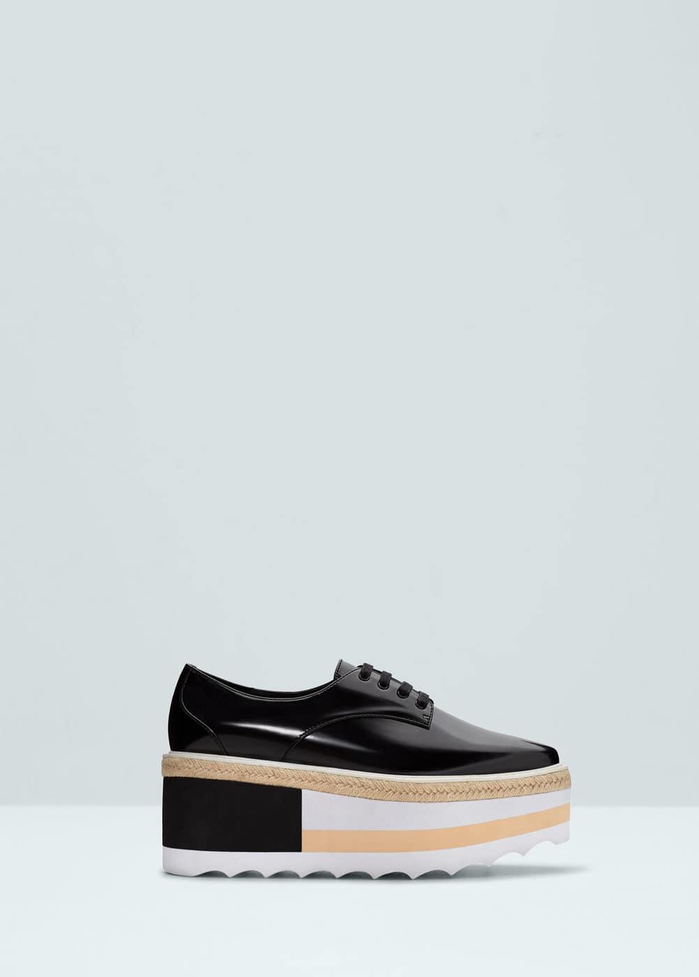 Contrast platform shoes | MANGO