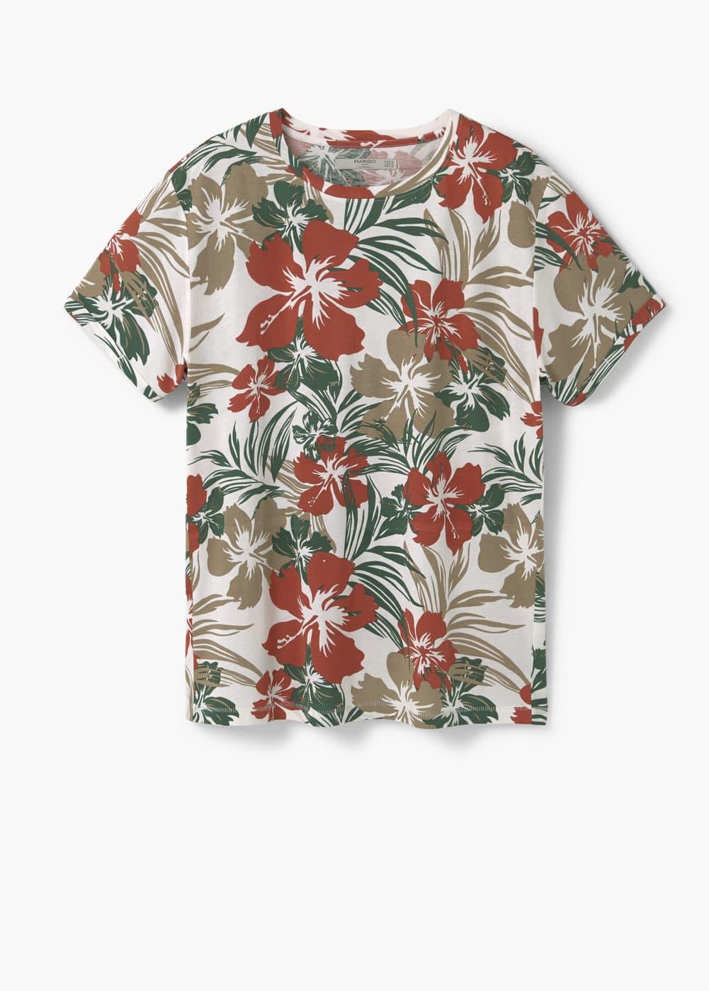 Floral print t-shirt   MANGO