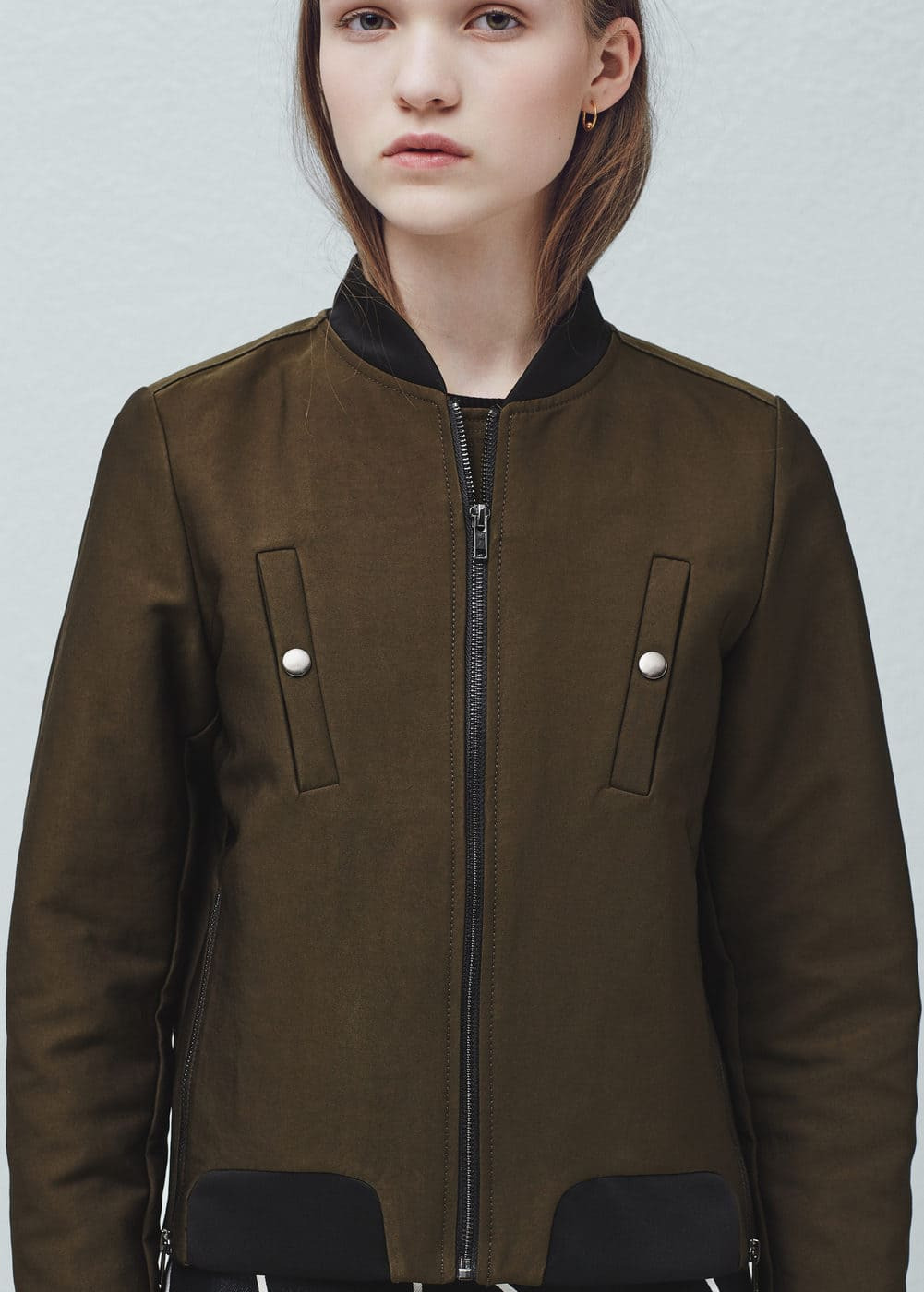 Pocket cotton bomber jacket
