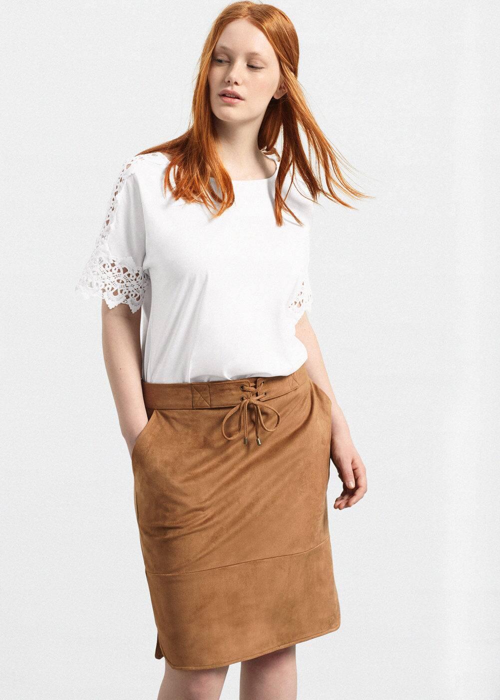 Textured skirt | MANGO
