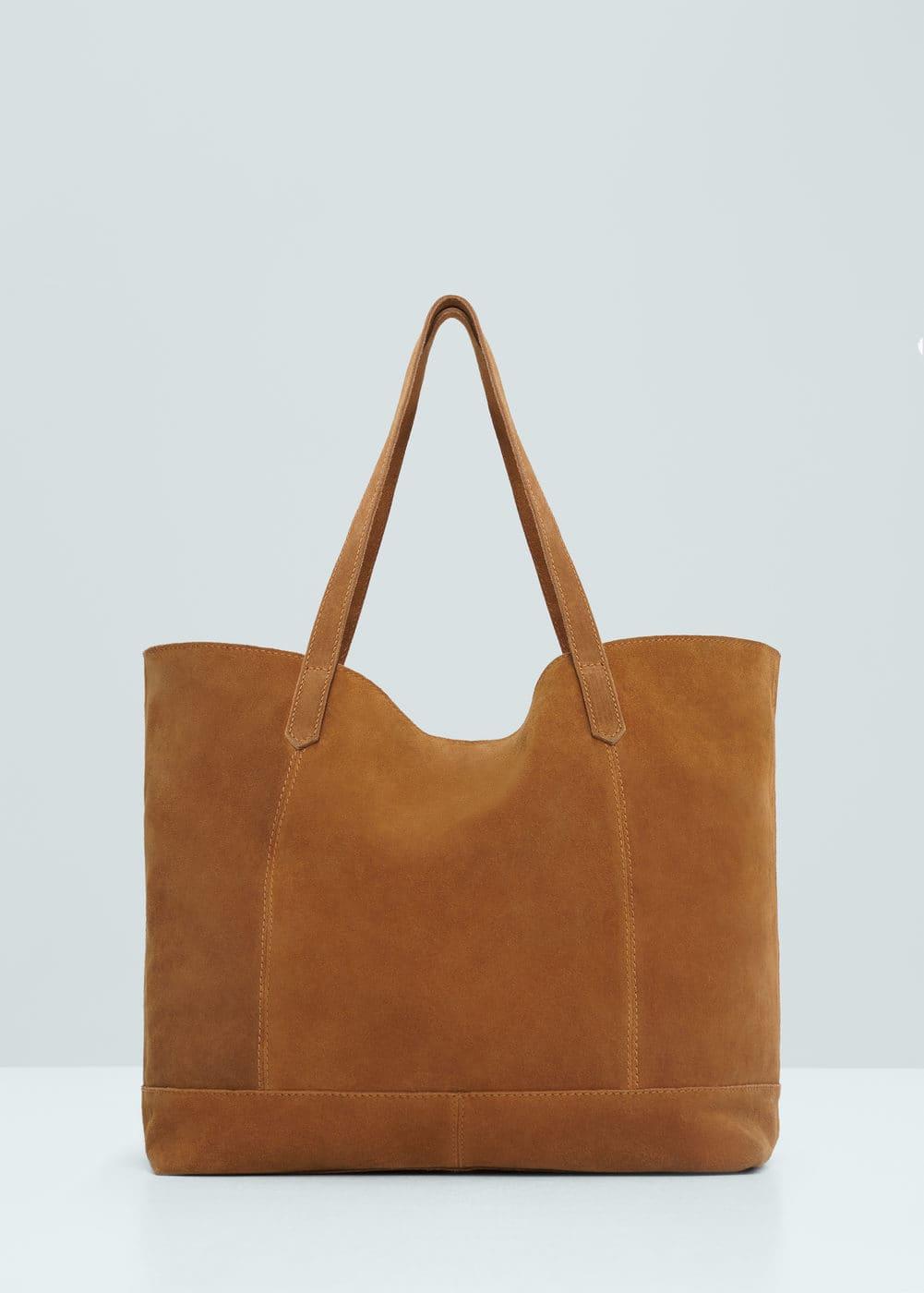绒面革购物袋 | MANGO