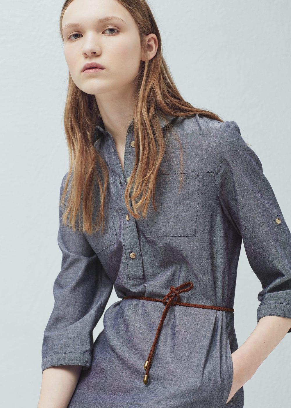 Robe chemisier coton | MANGO