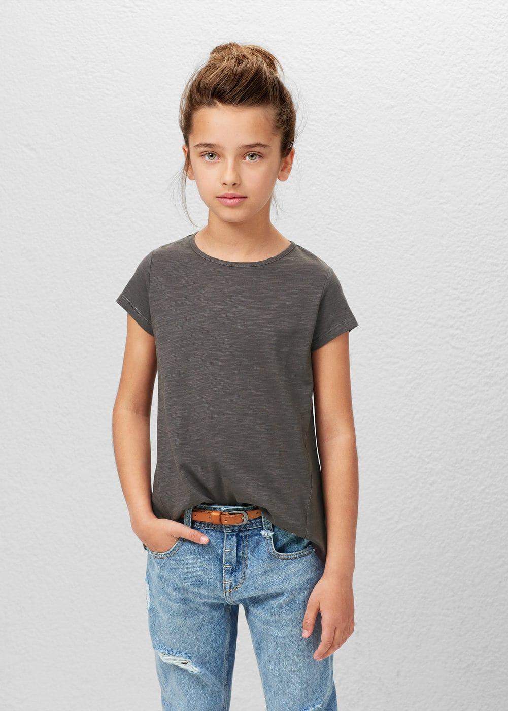 斑纹棉纺t恤 | MANGO