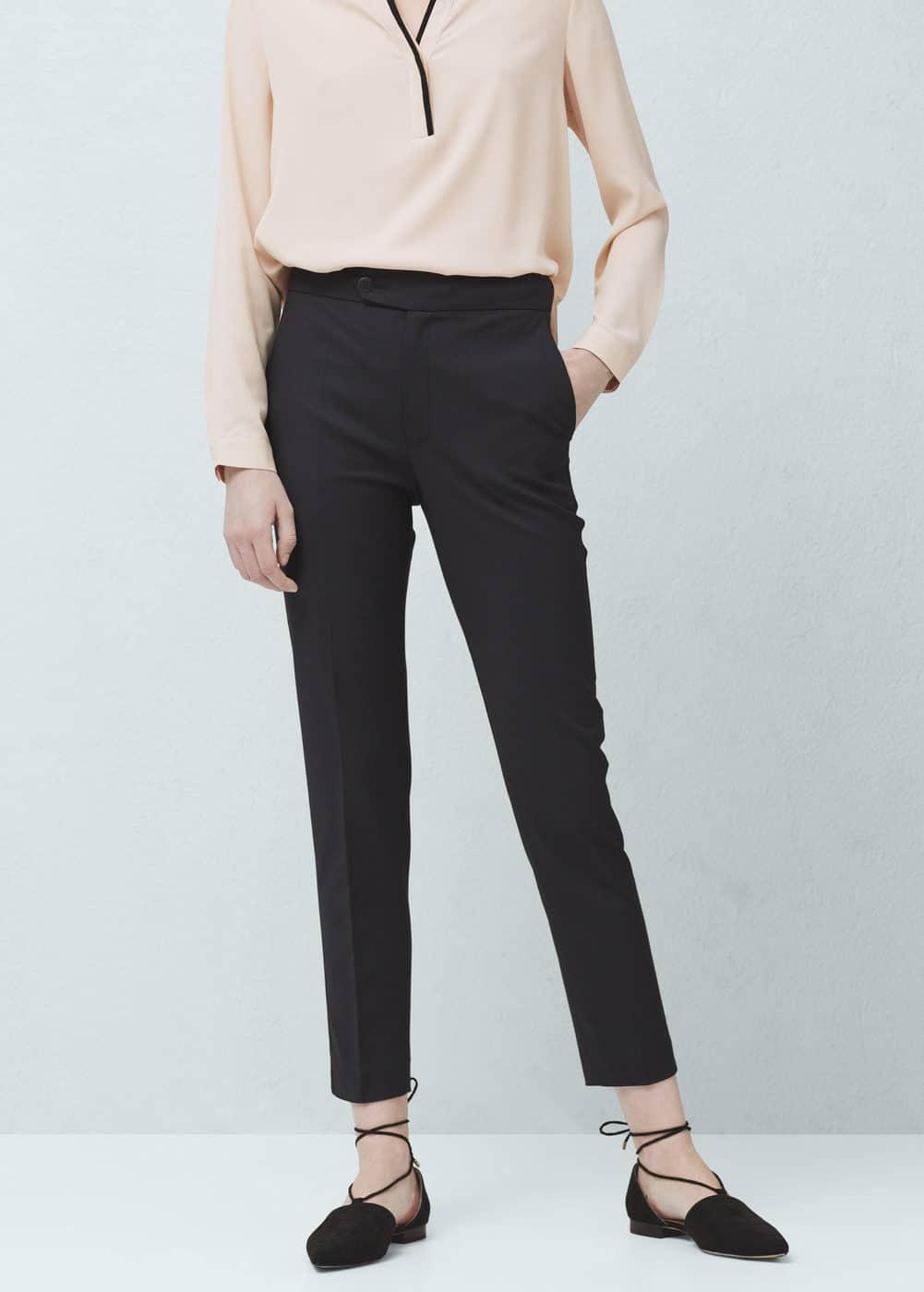 直筒棉质裤装 | MANGO
