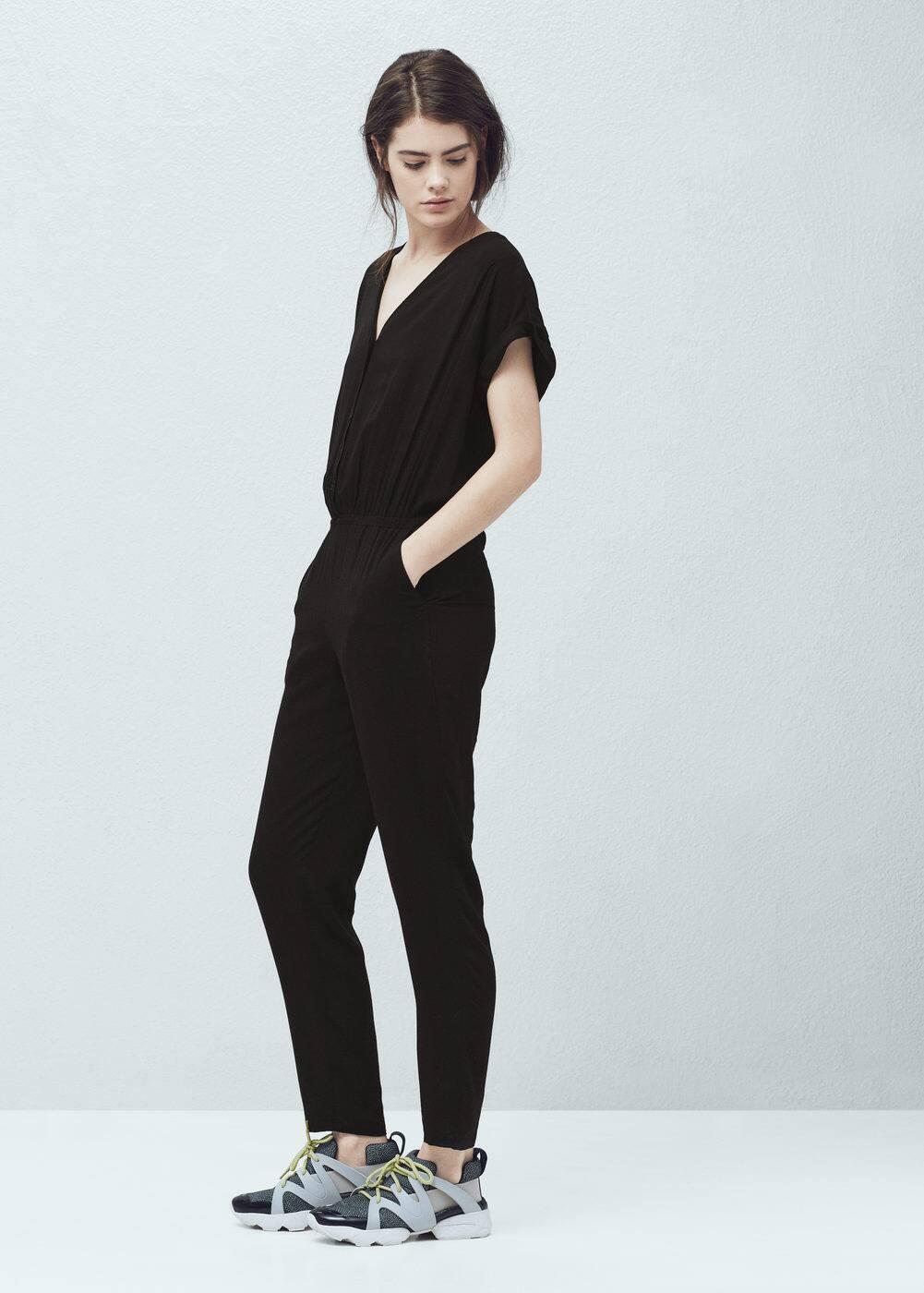 Flowy long jumpsuit - Women | MANGO USA