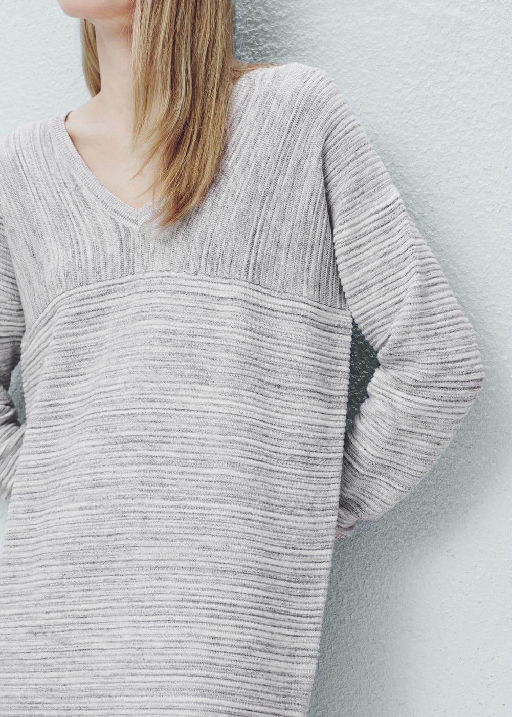 Robe jaspée en coton | MANGO