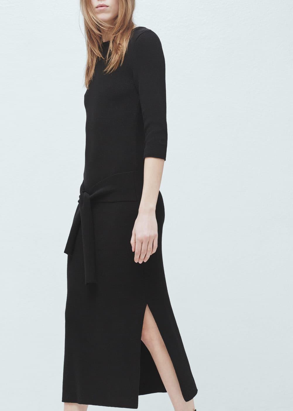 蝴蝶结针织连身裙 | MANGO