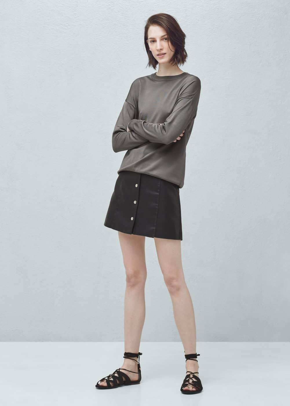 系扣短裙 | MANGO