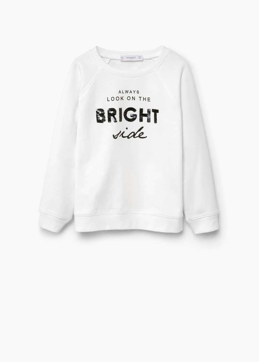 Sequin message sweatshirt | MANGO