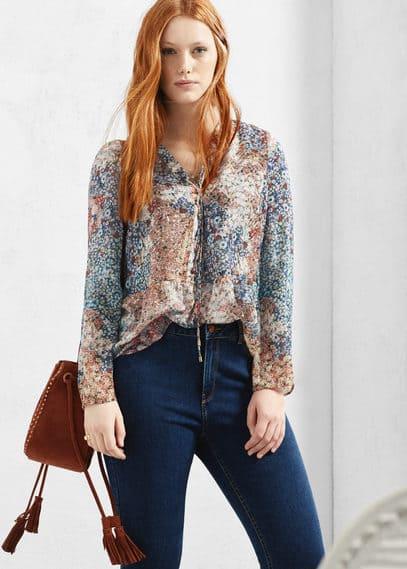 Floral print blouse | VIOLETA BY MANGO